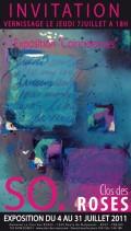 """Exposition """"Le clos des roses"""", Juillet 2011"""