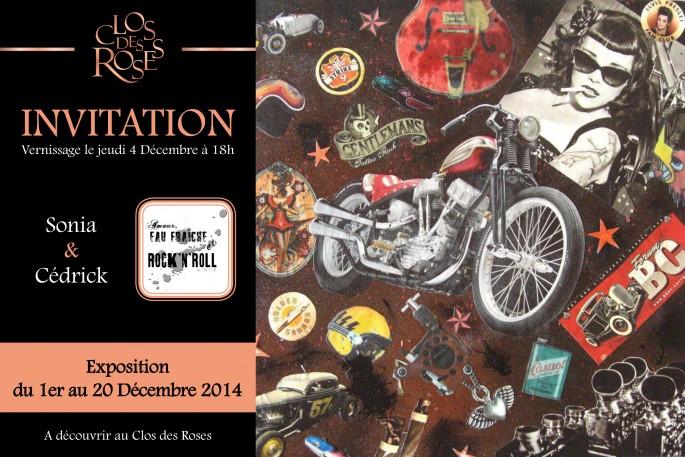 """Exposition """"Le clos des roses"""", Décembre 2014"""